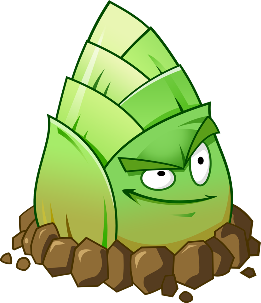 Zombie clipart plant vs zombie. Plants zombies bamboo shoot