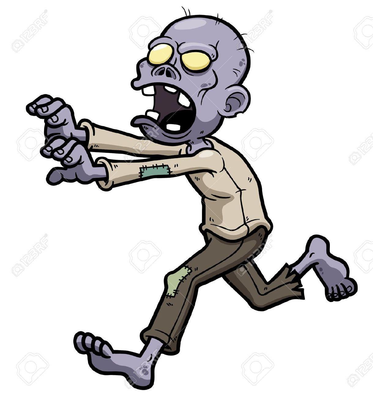 Zombie clipart royalty free. Cartoon cliparts stock vector
