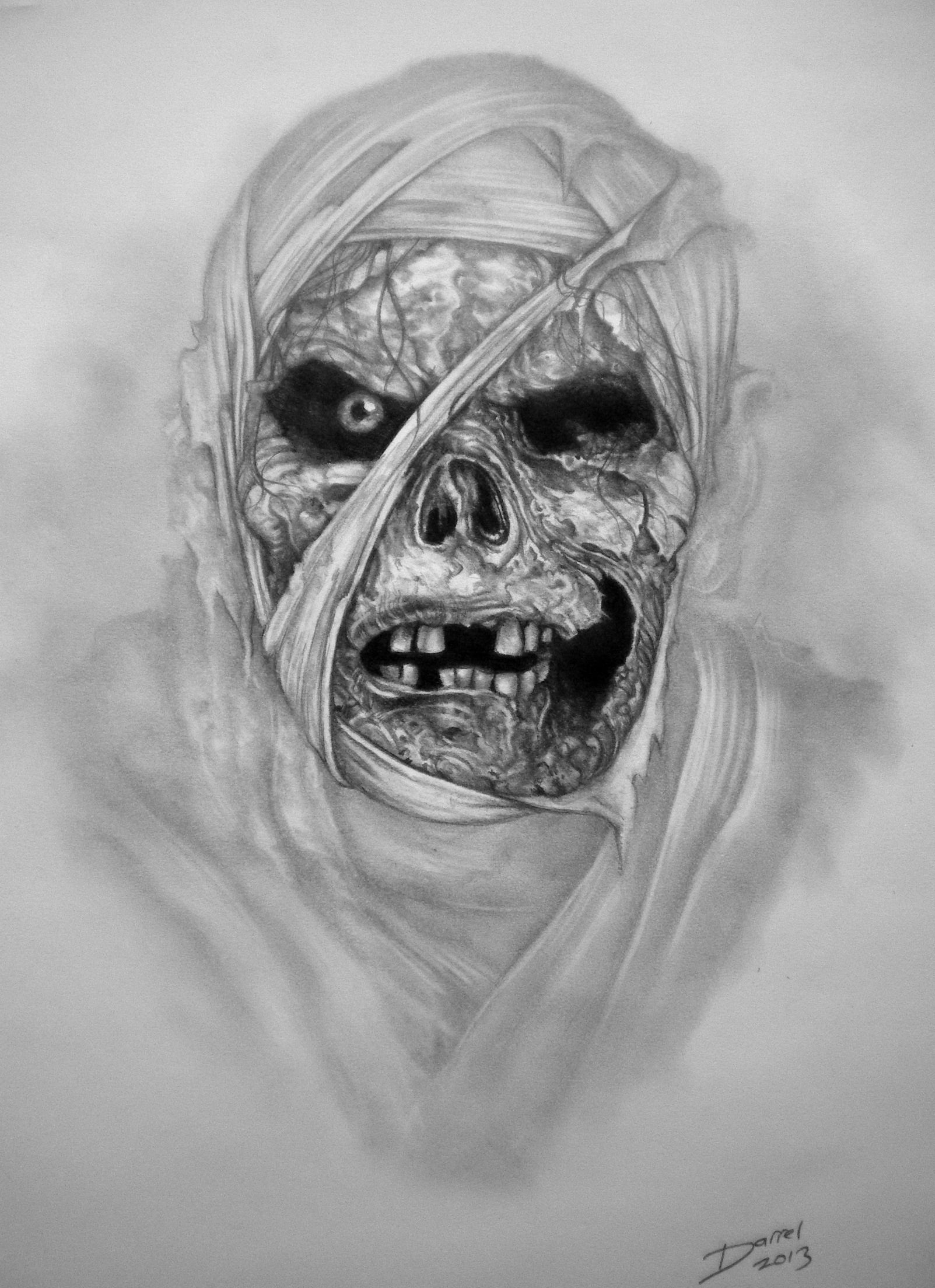 Zombie clipart scary halloween monsters. The mummy faces of