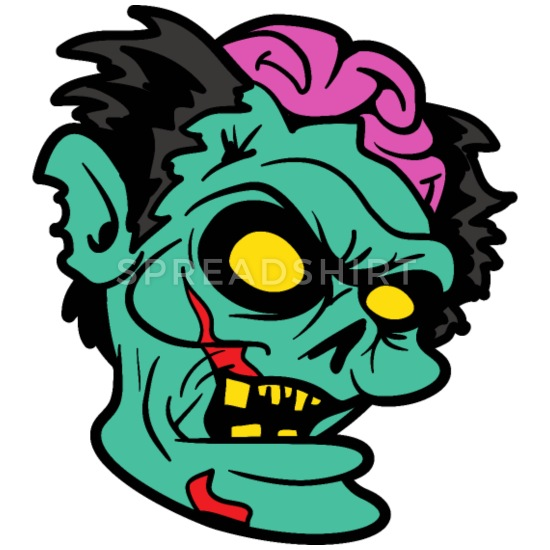 Horror brain monster spooky. Zombie clipart scary halloween monsters