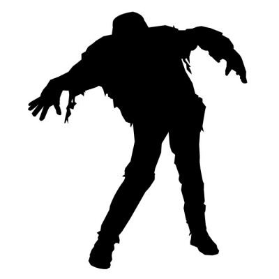 Zombie clipart silhouette. Free cliparts download clip