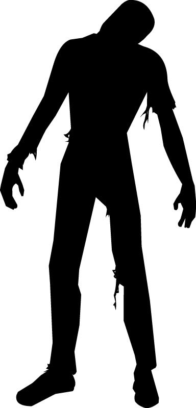 For the brick wall. Zombie clipart silhouette