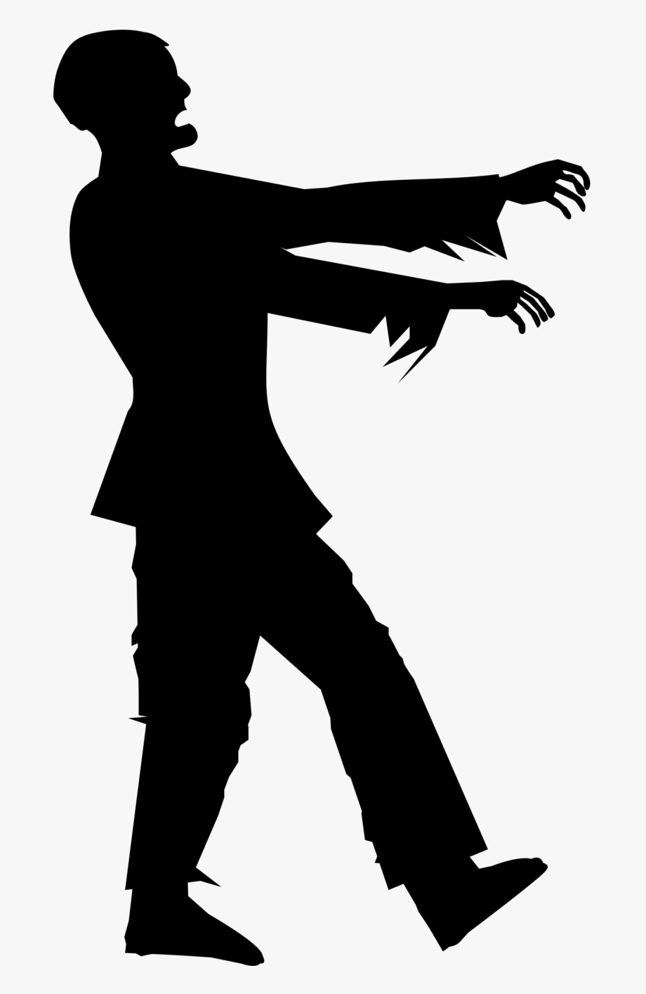 Zombie clipart silhouette. Png free