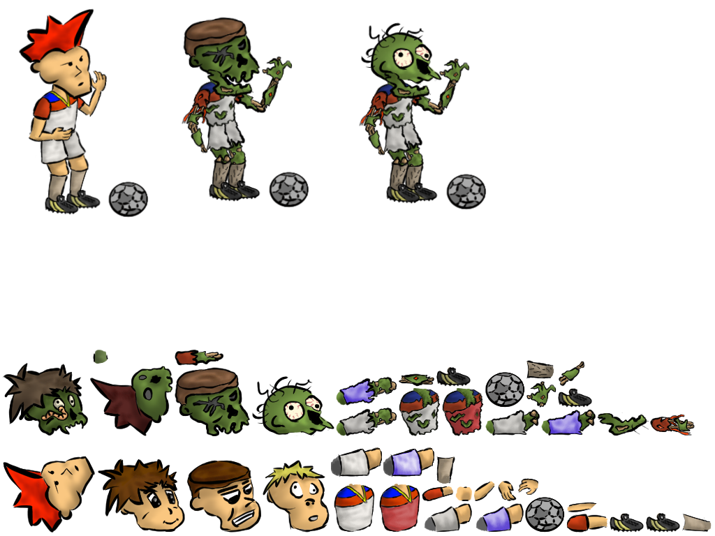 Assets opengameart org preview. Zombie clipart soccer