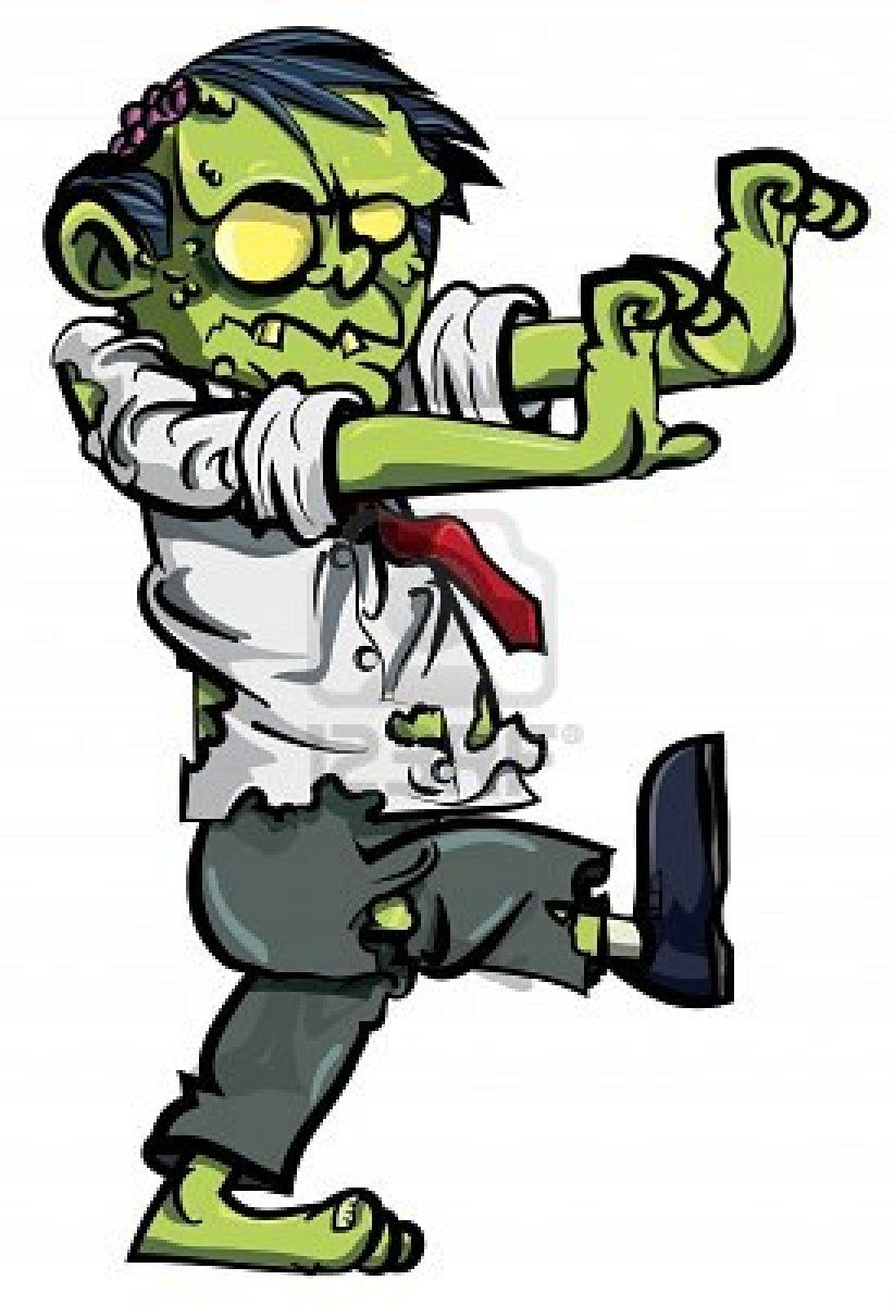 Zombies are dead behind. Zombie clipart undead