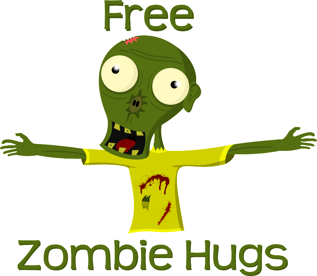 Zombie clipart vector. Free hugs general discussion