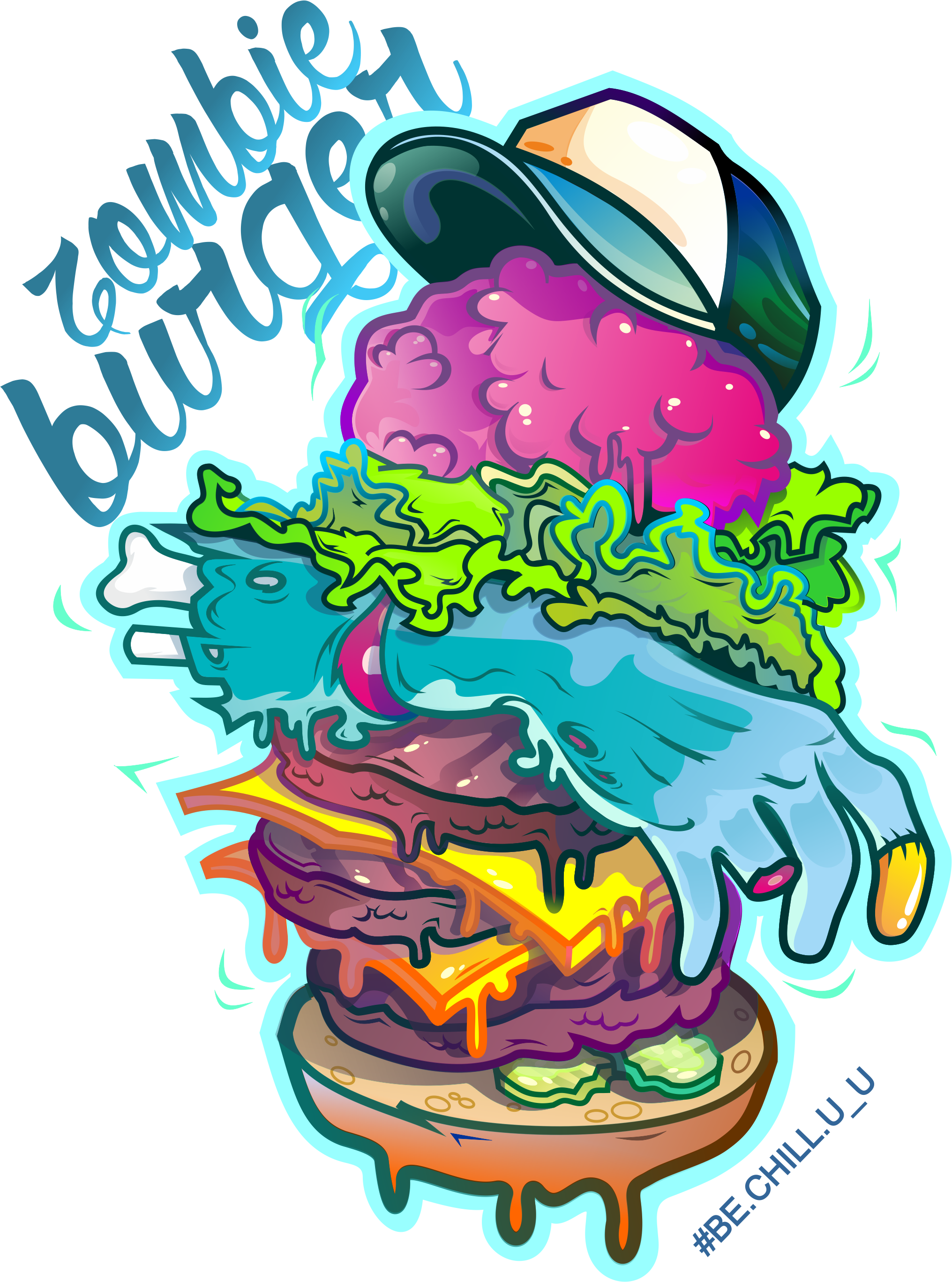 Zombie clipart vector. Burger by danyadevushkin on