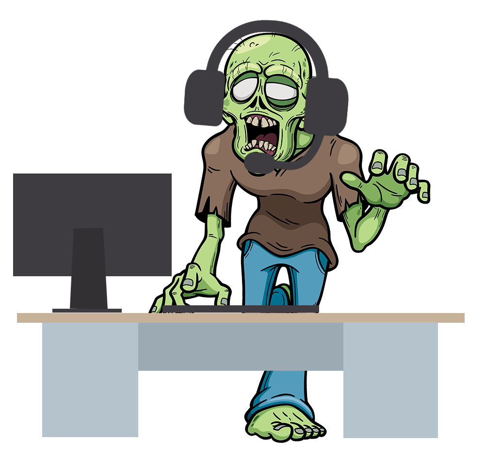 The admins worst nightmare. Zombie clipart zombie attack