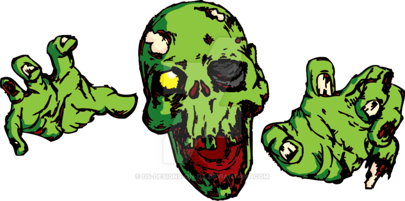 Zombie clipart zombie attack. Design by ds designs
