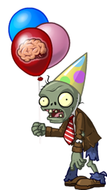 Zombie clipart zombie birthday. Character