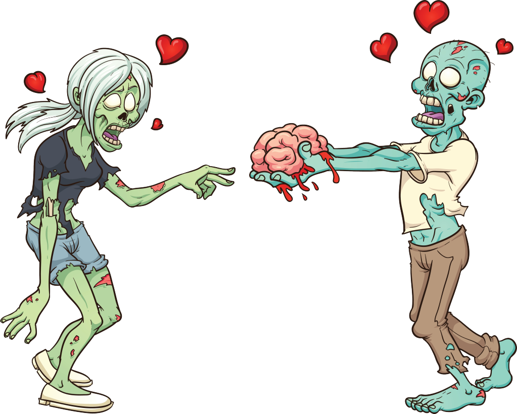 Lovers feast tote bag. Zombie clipart zombie brain