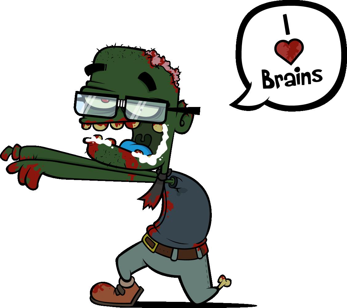 L brains by tripkikker. Zombie clipart zombie brain