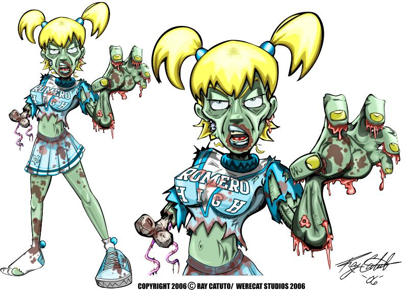 By werecat studios on. Zombie clipart zombie cheerleader