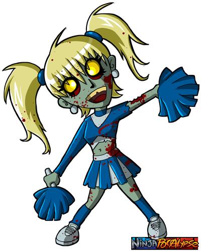 Zombie clipart zombie cheerleader. Ninjapocalypse