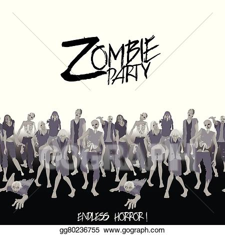 Vector art walking forward. Zombie clipart zombie crowd