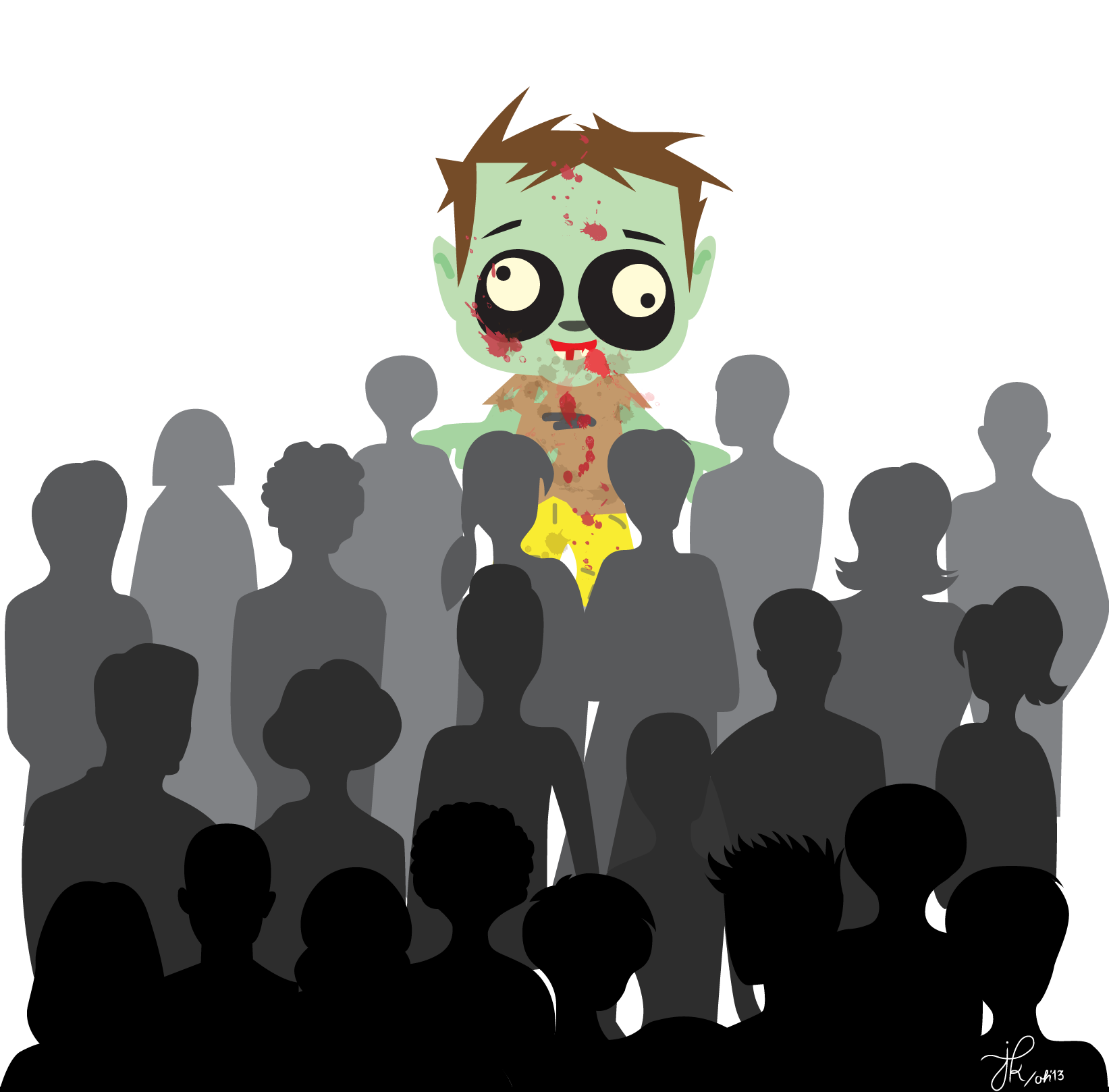 Zombie clipart zombie crowd. A love affair with