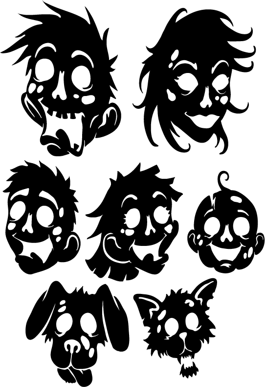 Zombie clipart zombie family.  collection of high