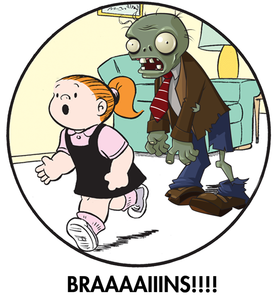 Pumpkins and cinnamon zombies. Zombie clipart zombie family