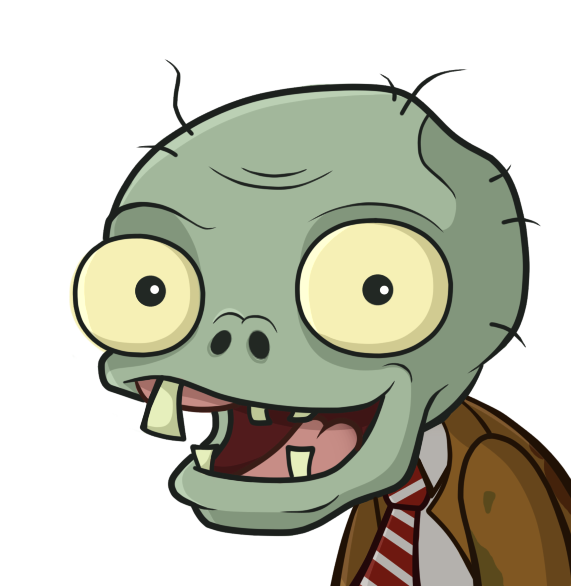 Zombie clipart zombie head. Smile by antixi on