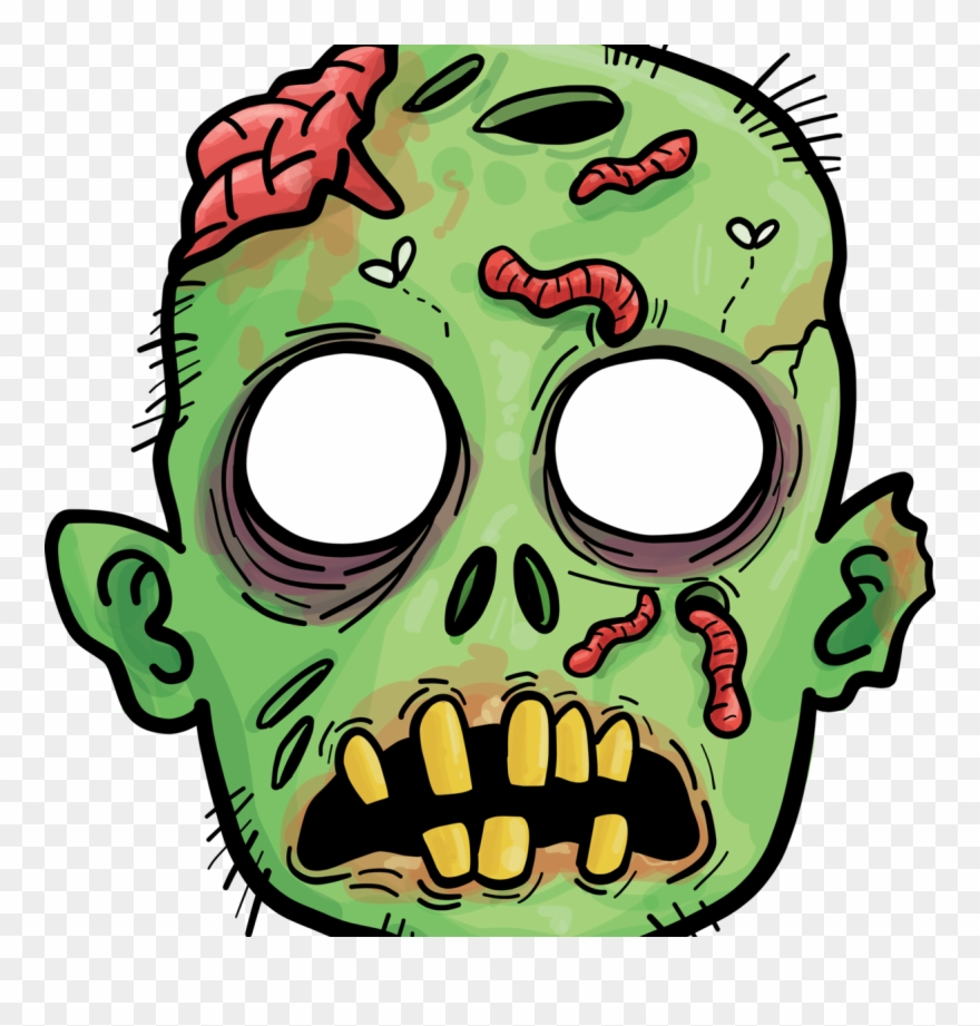 Zombie clipart zombie head. Clip art png download