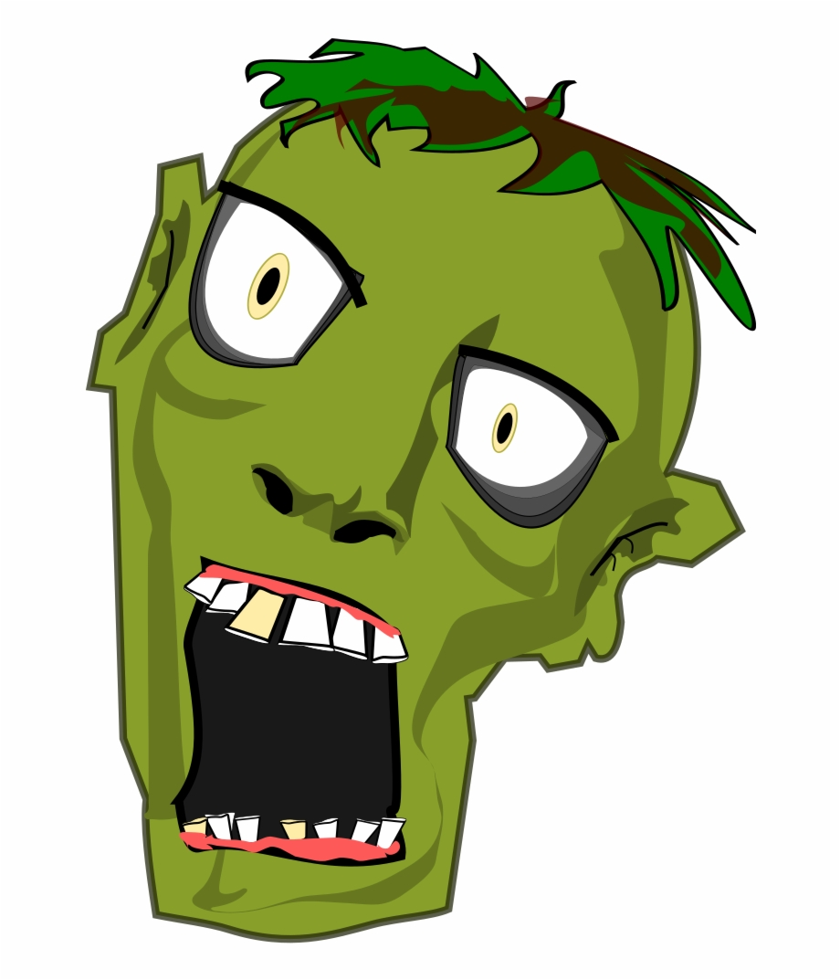 Free to use clip. Zombie clipart zombie head