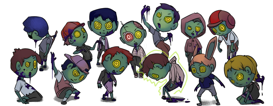 Zombie clipart zombie horde. Squishy games just another