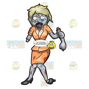 A holding her removed. Zombie clipart zombie lady