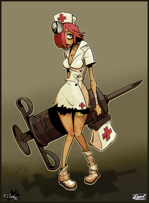 Lysol jones by cique. Zombie clipart zombie nurse
