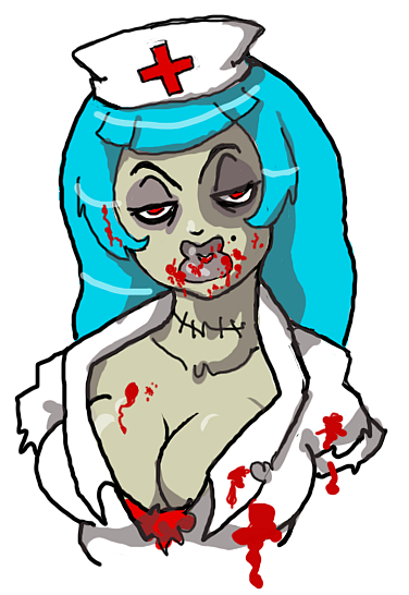 Tee by evilcreampuff on. Zombie clipart zombie nurse