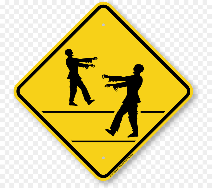 Zombie clipart zombie sign. Warning road transparent clip