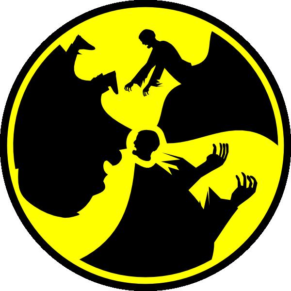 Radioactive symbol clip art. Zombie clipart zombie sign