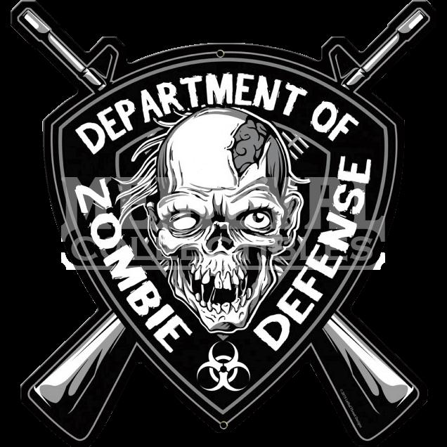 Zombie clipart zombie sign. Defense metal pt leth
