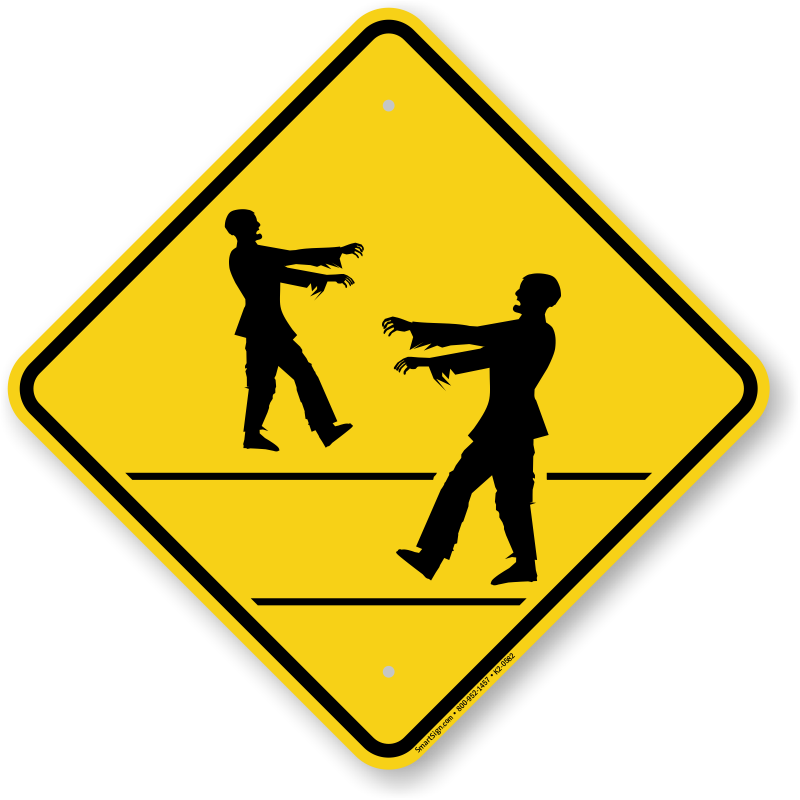 Zombie clipart zombie sign. Crossing symbol sku k