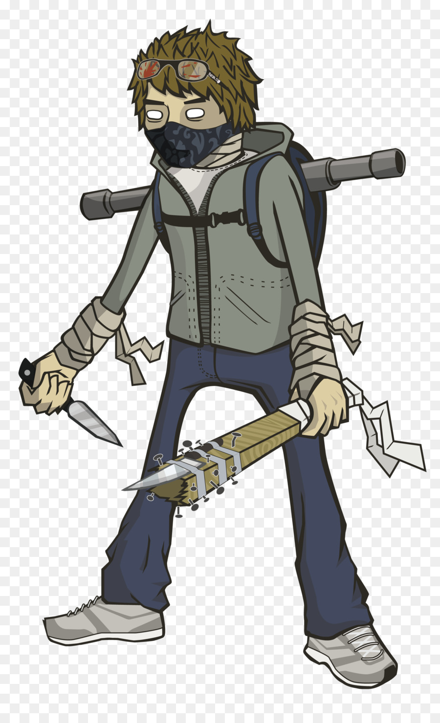 Painting cartoon drawing illustration. Zombie clipart zombie survival