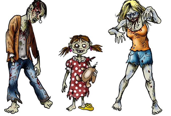 Zombie clipart zombie survival. Free clip art download