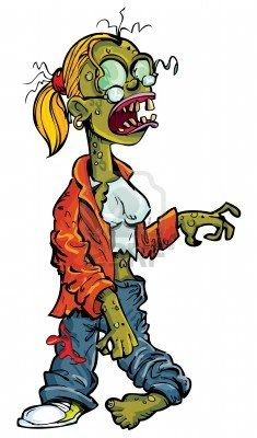 Stock vector characters in. Zombie clipart zombie woman