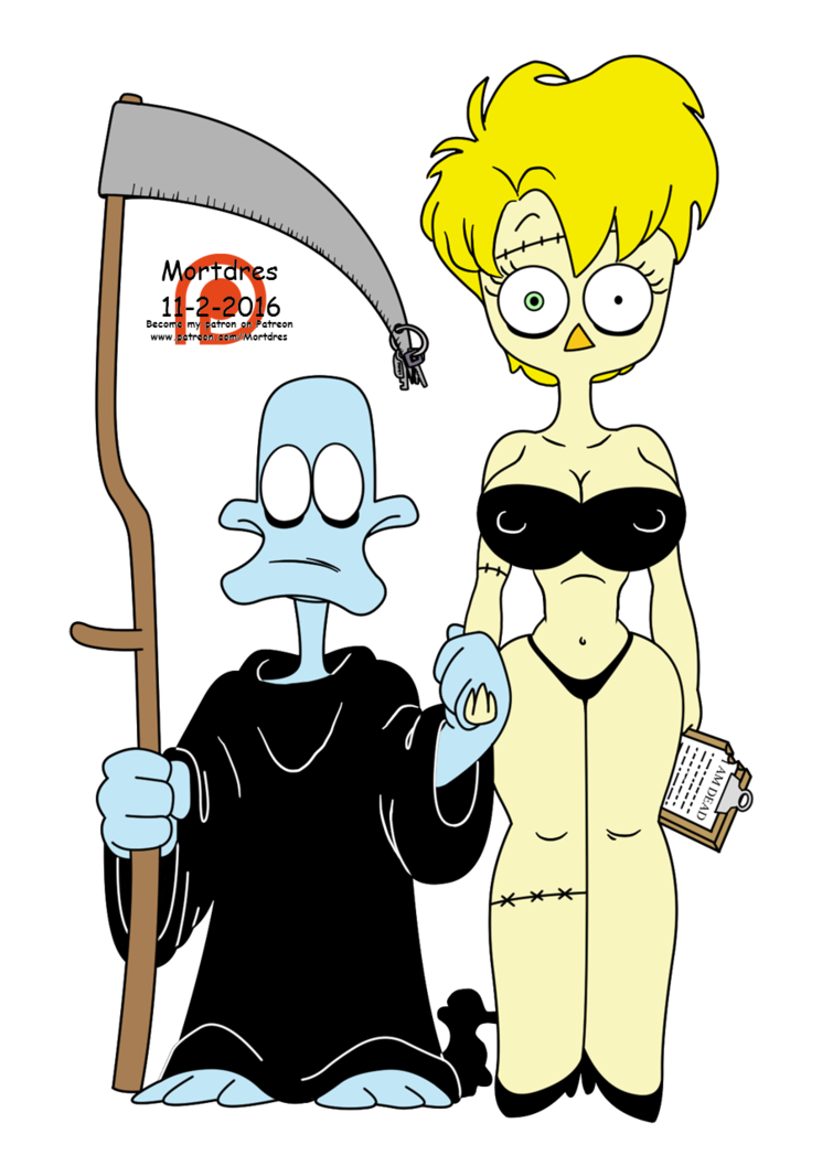 Zombie clipart zombie woman. Dead duck chick by