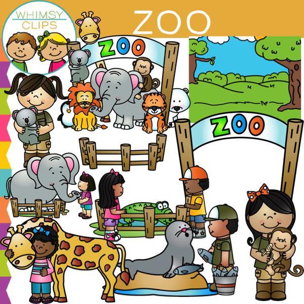 Kids clip art images. Zoo clipart