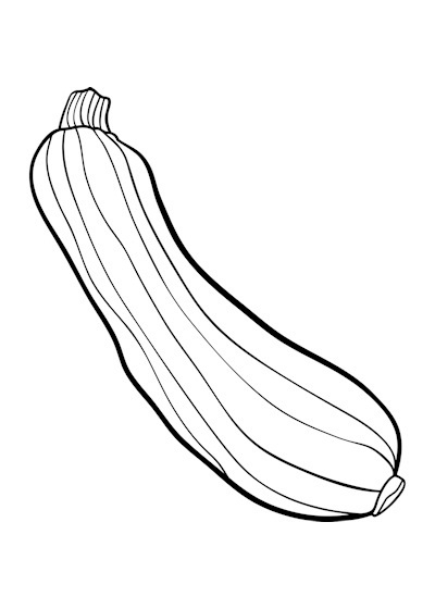 Black and white letters. Zucchini clipart