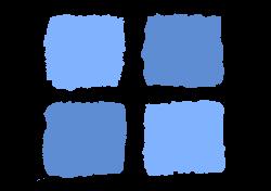 Clipart - Blue squares 1