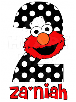 Elmo 2nd Birthday Clipart