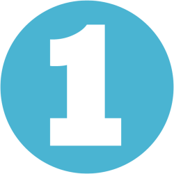 White Number 1 In Blue Circle transparent PNG - StickPNG
