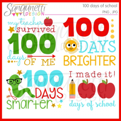 Sanqunetti Design: 100 days of school clipart