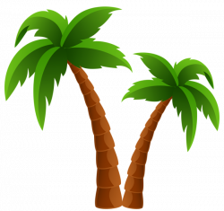 Two Palm Trees PNG Clipart Image | Summer clip | Pinterest | Clipart ...