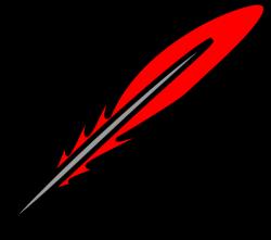 Red Feather 2 Clip Art at Clker.com - vector clip art online ...