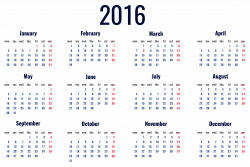 2016 Calendar Transparent PNG Clipart Picture   Gallery ...