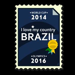 Clipart - Brazil 2014-2016 Postage Stamp