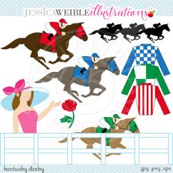 Kentucky Derby Cute Digital Clip Art Commercial Use OK