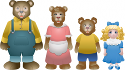 3 Bears Clipart