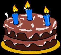 Birthday Cake Age 3 Clip Art at Clker.com - vector clip art online ...